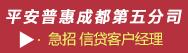 平安普惠投资咨询有限公司成都第五分公司招聘信息