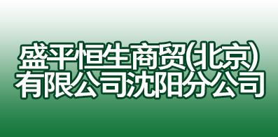 盛平恒生商贸(北京)有限公司沈阳分公司